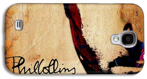 Pop Mixed Media Galaxy S4 Cases - Phil Collins Collection Galaxy S4 Case by Marvin Blaine