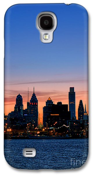 Phila Galaxy S4 Cases - Philadelphia Dusk Galaxy S4 Case by Olivier Le Queinec