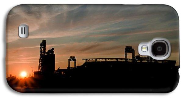 Philadelphia Phillies Stadium Galaxy S4 Cases - Phillies Stadium at Dawn Galaxy S4 Case by Bill Cannon