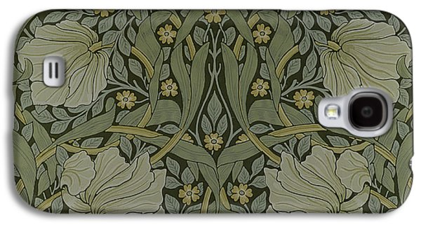 Floral Tapestries - Textiles Galaxy S4 Cases - Pimpernel wallpaper design Galaxy S4 Case by William Morris