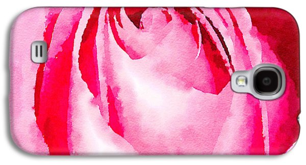 Abstract Digital Photographs Galaxy S4 Cases - Pink rose watercolour Galaxy S4 Case by Jane Rix
