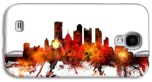Pittsburgh Galaxy S4 Cases - Pittsburgh Pennsylvania Skyline Galaxy S4 Case by Michael Tompsett