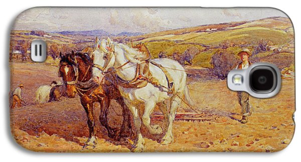 Farming Paintings Galaxy S4 Cases - Ploughing Galaxy S4 Case by Joseph Harold Swanwick