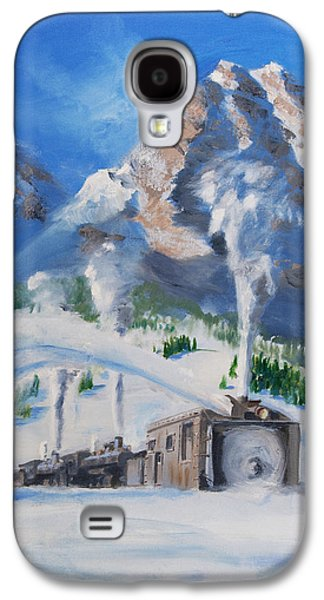 Snow Scene Paintings Galaxy S4 Cases - Plowing Home Galaxy S4 Case by Christopher Jenkins