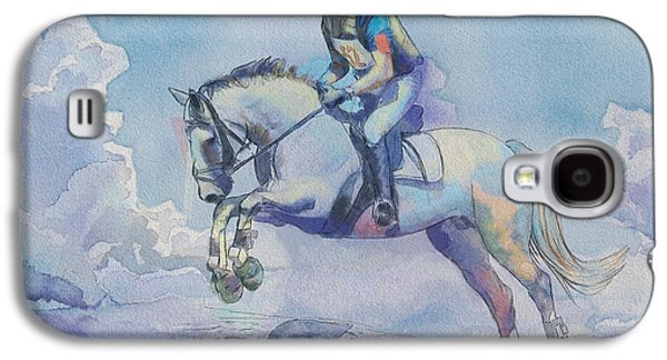 Goalkeeper Paintings Galaxy S4 Cases - Polo Art Galaxy S4 Case by Catf