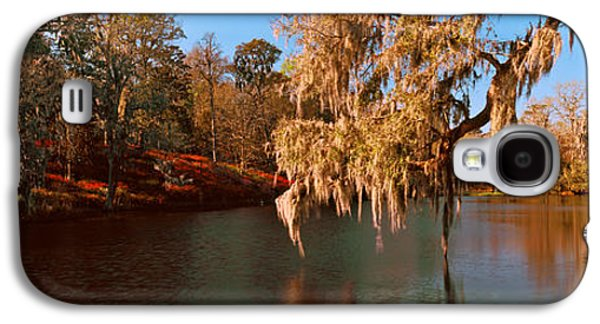 Garden Scene Galaxy S4 Cases - Pond In A Garden, Middleton Place Galaxy S4 Case by Panoramic Images