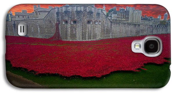 Chatham Galaxy S4 Cases - Poppies Tower of London Galaxy S4 Case by David French