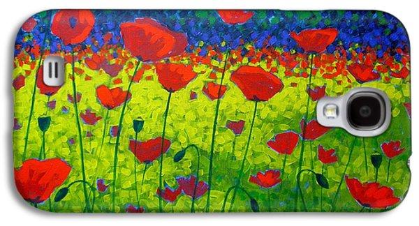 Landscape Acrylic Prints Galaxy S4 Cases - Poppy Field Galaxy S4 Case by John  Nolan