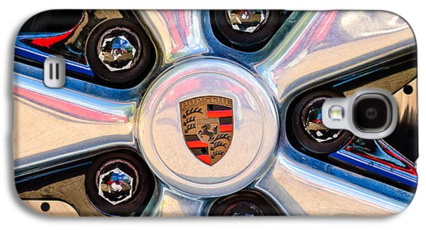 Classic Cars Photographs Galaxy S4 Cases - Porsche Wheel Rim Emblem Galaxy S4 Case by Jill Reger