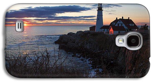 New England Ocean Galaxy S4 Cases - Portland Head Light at Dawn Galaxy S4 Case by Diane Diederich