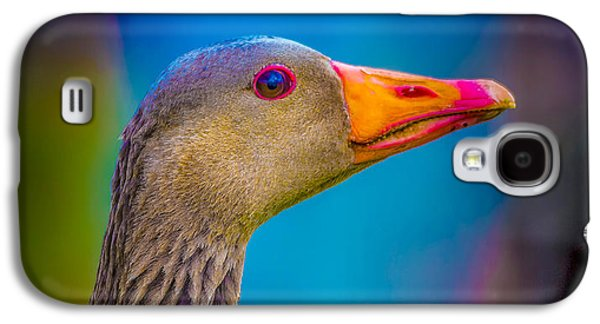 Vertical Flight Galaxy S4 Cases - Portrait Of Greylag Goose, Iceland Galaxy S4 Case by Panoramic Images