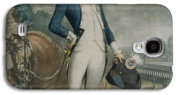 Slaves Galaxy S4 Cases - Portrait of the Marquis de La Fayette Galaxy S4 Case by Philibert-Louis Debucourt