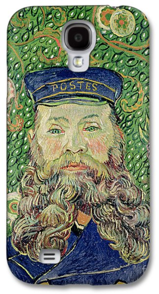 Arles Galaxy S4 Cases - Portrait of the Postman Joseph Roulin Galaxy S4 Case by Vincent Van Gogh