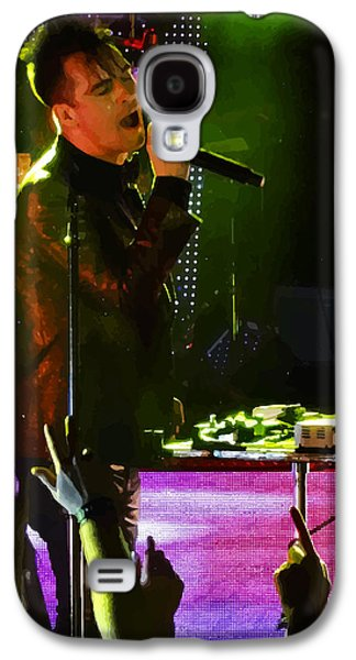 Nike Digital Art Galaxy S4 Cases - Posterized Brendon Urie of Panic at the Disco Galaxy S4 Case by Lesley DeHaan