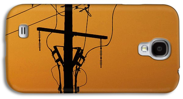 Electrical Photographs Galaxy S4 Cases - Power Line Sunset Galaxy S4 Case by Don Spenner
