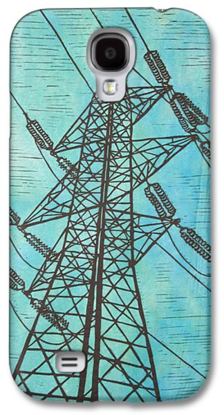 Electricity Drawings Galaxy S4 Cases - Power Galaxy S4 Case by William Cauthern