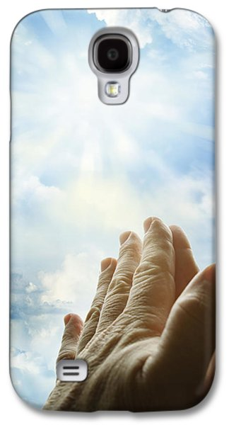 Praying Hands Galaxy S4 Cases - Prayer Galaxy S4 Case by Les Cunliffe