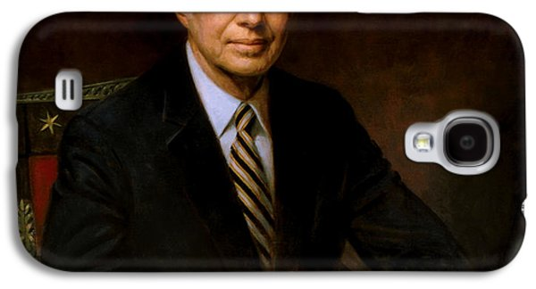 Democrat Paintings Galaxy S4 Cases - President Jimmy Carter Galaxy S4 Case by War Is Hell Store