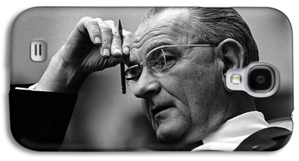 President Lyndon Johnson Galaxy S4 Case by War Is Hell Store