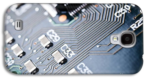 Component Photographs Galaxy S4 Cases - Printed Circuit Board Components Galaxy S4 Case by Arno Massee
