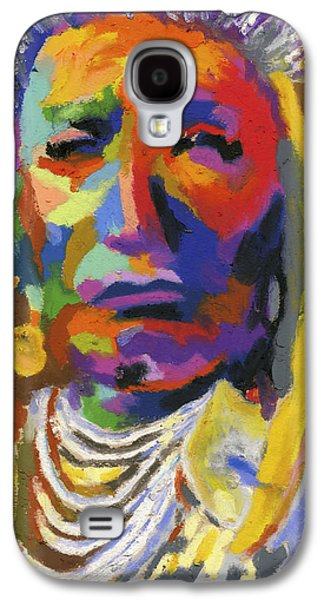 Tribe Paintings Galaxy S4 Cases - Proud Native American II Galaxy S4 Case by Stephen Anderson