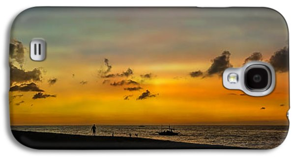 Dogs Digital Art Galaxy S4 Cases - Puka Beach Sunset Galaxy S4 Case by Adrian Evans