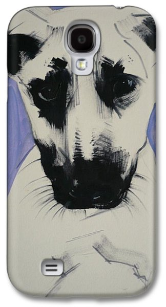 Puppies Galaxy S4 Cases - Puppy, 2011 Oil On Board Galaxy S4 Case by Sally Muir