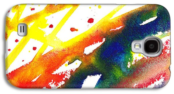 Abstract Pattern Paintings Galaxy S4 Cases - Pure Color Inspiration Abstract Painting Parallel Perception Galaxy S4 Case by Irina Sztukowski