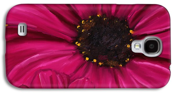 Floral Digital Art Galaxy S4 Cases - Purple Beauty Galaxy S4 Case by Lourry Legarde