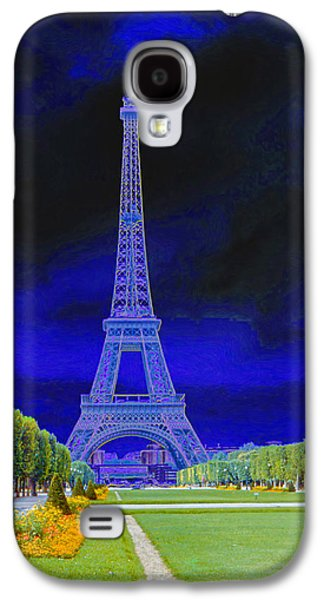 Best Sellers Photographs Galaxy S4 Cases - Purple Eiffel Galaxy S4 Case by Chuck Staley