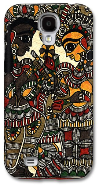Indian Tapestries - Textiles Galaxy S4 Cases - Radha kissan Galaxy S4 Case by Pallavi