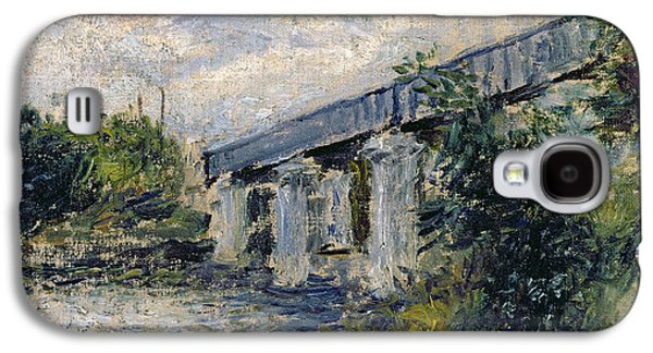 1874 Galaxy S4 Cases - Railway Bridge at Argenteuil Galaxy S4 Case by Claude Monet