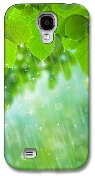 Shower Digital Galaxy S4 Cases - Rainforest Galaxy S4 Case by Atiketta Sangasaeng