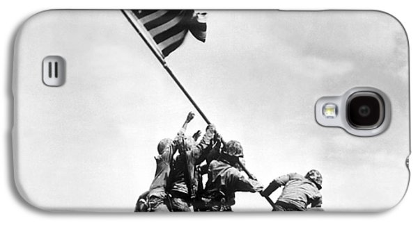 Landmarks Photographs Galaxy S4 Cases - Raising The Flag On Iwo Jima Galaxy S4 Case by War Is Hell Store