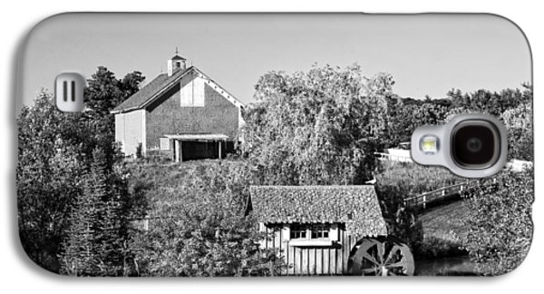 Old Maine Barns Galaxy S4 Cases - Red Barn And Water Mill On Farm In Maine Galaxy S4 Case by Keith Webber Jr