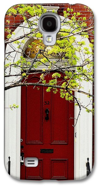 Original Art Photographs Galaxy S4 Cases - Red Door 32 Galaxy S4 Case by Colleen Kammerer