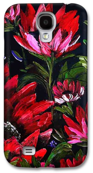 Red Flowers Galaxy S4 Case by Shirwan Ahmed