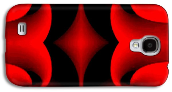 Shower Curtain Galaxy S4 Cases - Red Galaxy S4 Case by Rafael Salazar