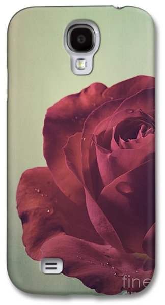 Paper Pyrography Galaxy S4 Cases - Red Rose Galaxy S4 Case by Jelena Jovanovic