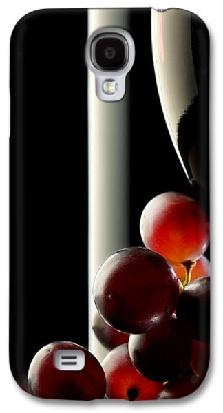 Glass Reflections Galaxy S4 Cases - Red wine with grapes Galaxy S4 Case by Johan Swanepoel