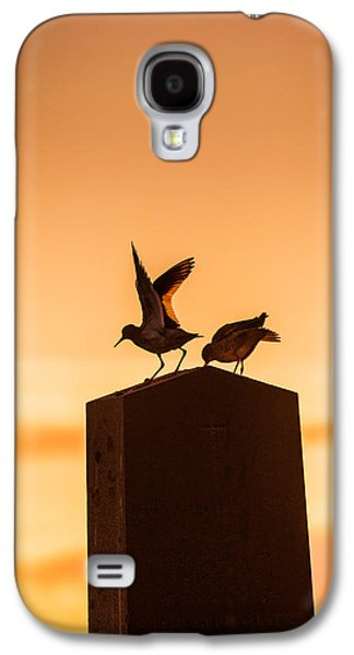 Vertical Flight Galaxy S4 Cases - Redshank Tringa Totanus, Flatey Island Galaxy S4 Case by Panoramic Images