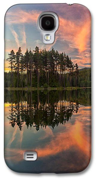 Waterscape Pyrography Galaxy S4 Cases - Reflections Galaxy S4 Case by Simeon Simeonov
