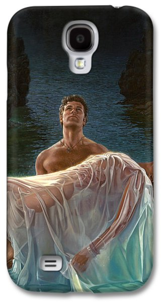 Print On Canvas Galaxy S4 Cases - Resurrection Galaxy S4 Case by Mia Tavonatti