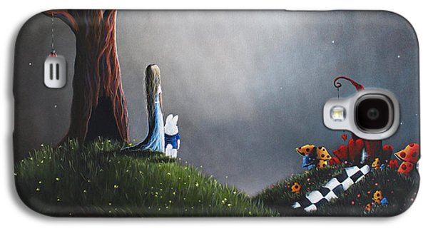 Fantasy Paintings Galaxy S4 Cases - Alice In Wonderland Original Artwork Galaxy S4 Case by Shawna Erback