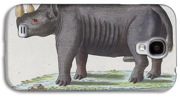 Rhinoceros Paintings Galaxy S4 Cases - Rhinoceros Galaxy S4 Case by Johann Matthaus Bechstein