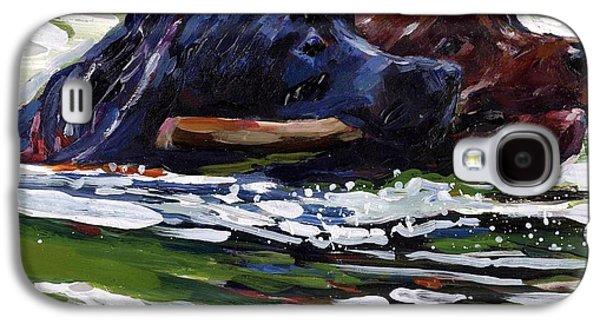 Chocolate Labrador Retriever Galaxy S4 Cases - River Run Galaxy S4 Case by Molly Poole