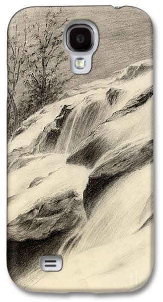 Drawing Galaxy S4 Cases - River Stream Galaxy S4 Case by Hailey E Herrera