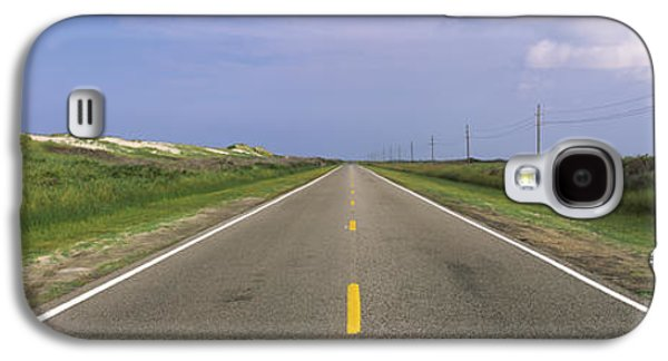 Telephone Poles Galaxy S4 Cases - Road Passing Through A Landscape, North Galaxy S4 Case by Panoramic Images