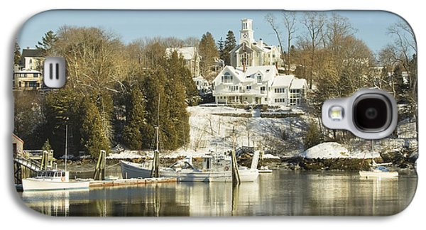 Maine Winter Galaxy S4 Cases - Rockport in Winter on The Coast Of Maine Galaxy S4 Case by Keith Webber Jr