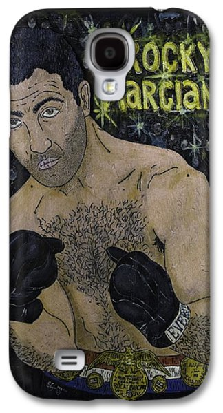 Boxer Galaxy S4 Cases - Rocky Marciano Galaxy S4 Case by Eric Cunningham